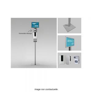borne impact market classique thermomètre