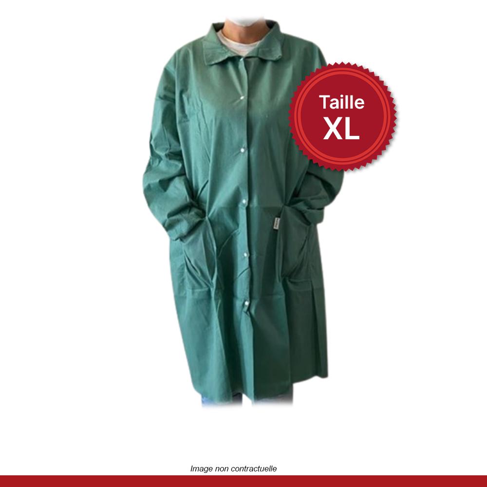 blouse-boutons-pressions-verte-XL