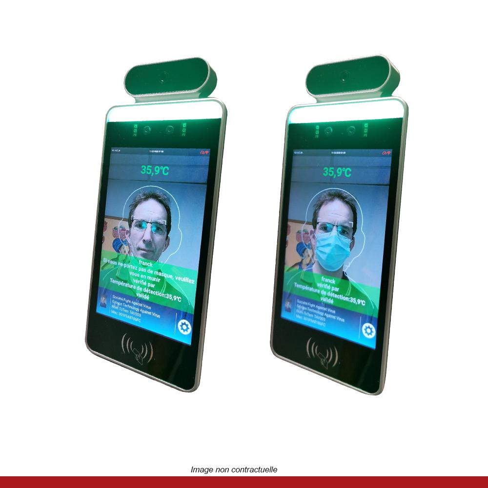 borne-accueil-prise-température-detection-port-du-masque-ecran