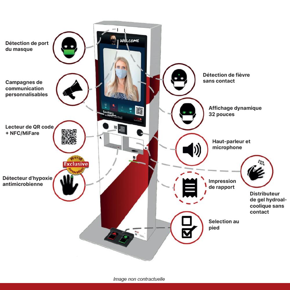 borne-sanitaire-interactive-multifonction