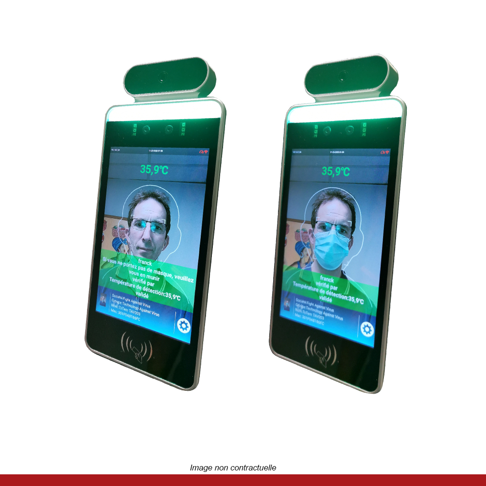 portique-desinfection-prise-de-temperature-ecran-multifonction